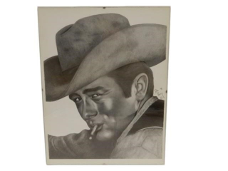 1991 ORIGINAL DAN PARRY JAMES DEAN  SKETCH