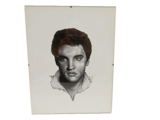 1991 ORIGINAL DAN PARRY ELVIS PRESLEY  SKETCH