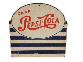 1950'S DRINK PEPSI-COLA D/S MASON BOARD SIGN