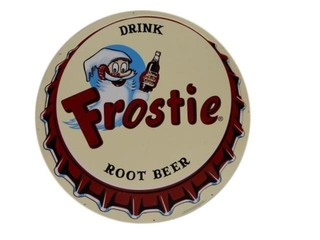 DRINK FROSTIE ROOT BEER EMBOSSED SST SIGN