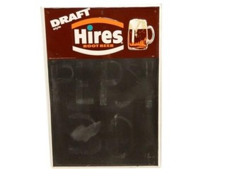 HIRES DRAFT ROOT BEER SST EMBOSSED CHALK BOARD