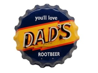 DAD'S ROOTBEER ONE COLOR  NEON BOTTLE CAP