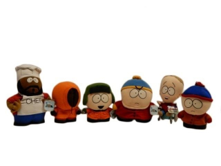1998 COMEDY CENTRAL 6 SOUTH PARK STUFFED TOYS