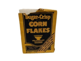 1934 DISNEY CORN FLAKES 8 OZ. CARDBOARD BOX