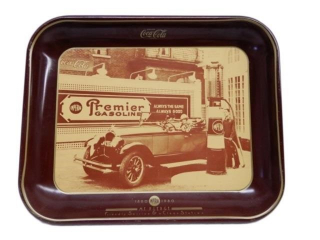 1980 COCA-COLA  IMPERIAL GASOLINE SERVING TRAY