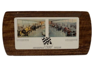 "1960'S INDIANAPOLIS ""500"" MUSEUM HARD PLASTIC TRAY"