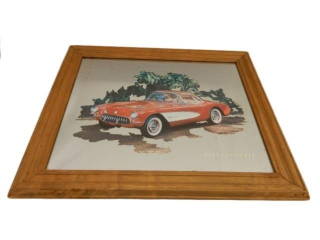 1957 CORVETTE FRAMED MIRROR