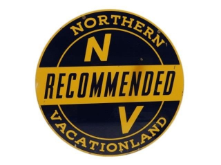 RECOMMENDED NORTHERN VACATIONALAND D/S METAL SIGN