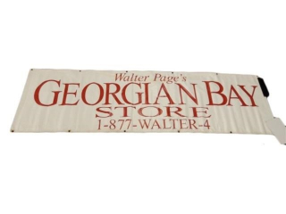 WALTER PAGE'S GEORGIAN BAY STORE S/S VINYL BANNER