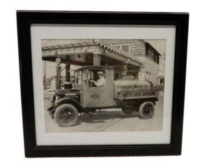 FRAMED EN-AR-CO WHITE ROSE GASOLINE TANKER PRINT