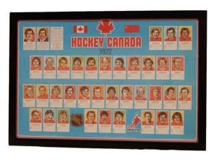 FRAMED 1972 HOCKEY CANADA  PRINT