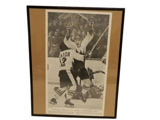 1972 PAUL HENDERSON TEAM CANADA NEWSPAPER PRINT