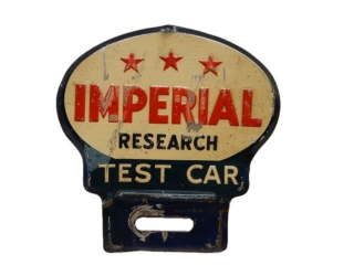 IMPERIAL 3 STAR RESEARCH SST LICENSE PLATE TOPPER