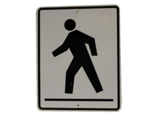 CROSSWALK REFLECTIVE S/S ALUMINUM SIGN