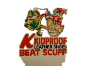 KIDPROOF LEATHER SHOES BEAT SCUFF S/S PLASTIC SIGN