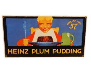 HEINZ PLUM PUDDING - ONE OF 57 SSP SIGN - REPRO