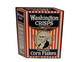 WASHINGTON CRISPS TOASTED CORN FLAKES SSP SIGN