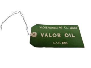 McCOLL-FRONTENAC OIL CO. VALOR OIL S.A.E 40 TAG