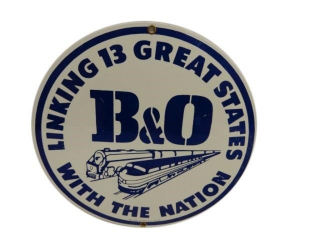 1987 B&O RAILWAY LINKING 13 GREAT STATES SSP SIGN