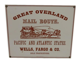 1990 GREAT OVERLAND MAIL ROUTE SSP SIGN