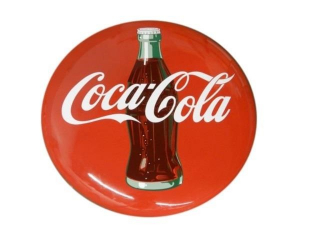 "COCA-COLA SSP 36"" BUTTON SIGN"