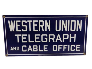 WESTERN UNION TELEGRAPH & CABLE OFFICE SSP SIGN
