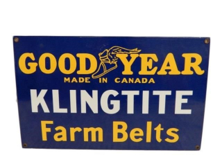 GOODYEAR KLINGTITE FARM BELTS SSP SIGN - REPRO
