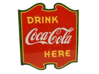 1939 VILAS DRINK COCA-COLA  HERE PORC. FLANGE
