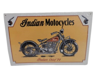 INDIAN MOTORCYCLES INDIAN CHIEF 74 ADV. SIGN-REPRO