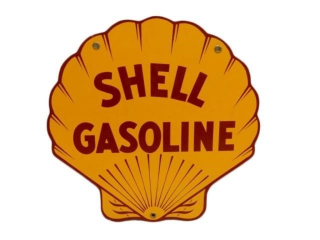 SHELL GASOLINE CLAMSHELL SSP PUMP PLATE