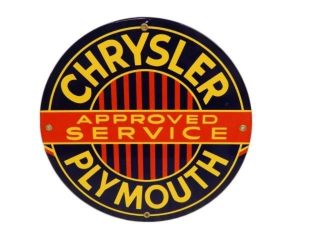 CHRYSLER PLYMOUTH APPROVED SERVICE SSP SIGN - NEW