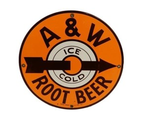 A&W ROOT BEER ICE COLD SSP SIGN - REPRO