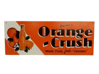 DRINK ORANGE CRUSH SST SELF FRAMED SIGN- NEW