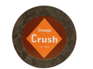ORANGE CRUSH S/S CARDBOARD SIGN