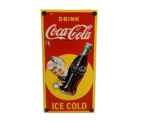 DRINK COCA-COLA  ICE COLD SSP PALM PUSH- REPRO