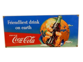 COCA-COLA FRIENDLIEST DRINK ON EARTH SSP SIGN