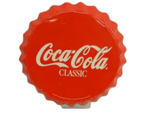COCA-COLA CLASSIC S/S ALUM. BOTTLE CAP SIGN-REPRO