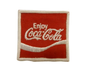 ENJOY COCA-COLA CLOTH BADGE/ PACKAGING/ NOS