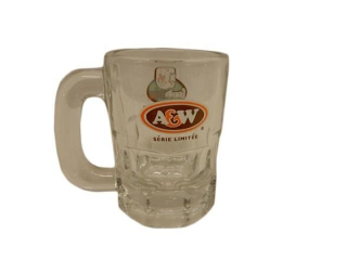 A & W GRANDPA BURGER ADVERTISING GLASS MUG