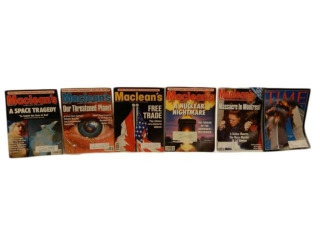 GROUPING  6 HISTORIC EVENTS MACLEAN'S MAGAZINES+