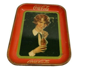 1927 DRINK COCA-COLA  METAL.SERVING TRAY
