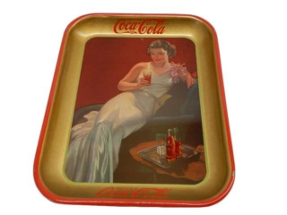 1937 BUVEZ COCA-COLA  METAL.SERVING TRAY (FR)