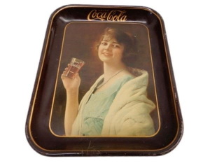 DRINK COCA-COLA  FLAPPER GIRL TIN SERVING TRAY