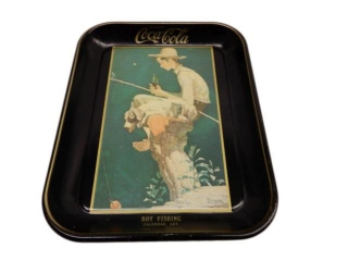 DRINK COCA-COLA  CALENDAR ART METAL SERVING TRAY