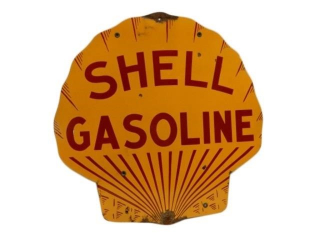 SHELL GASOLINE CLAMSHELL SSP SIGN