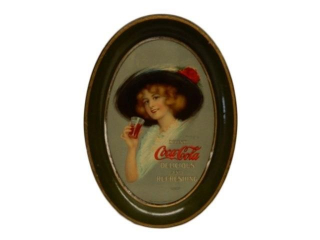 "DRINK COCA-COLA ""DELICIOUS & REFRESHNG"" TIN TRAY"
