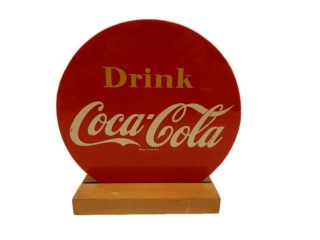 DRINK COCA-COLA  S/S PLASTIC DESK TOP SIGN