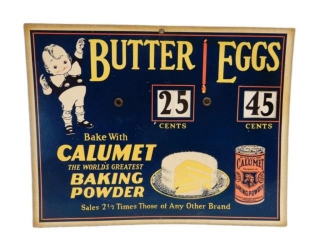 CALUMET BAKING POWDER S/S CARDBOARD SIGN