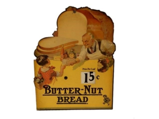 X BUTTER-NUT BREAD S/S CARDBOARD  PRICE SIGN