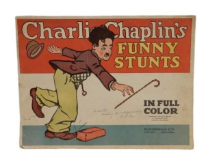 1917 CHARLIE CHAPLIN'S FUNNY STUNTS COLOR BOOKLET